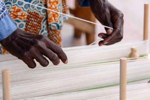 Hands making a Warp, Musanze Rwanda Africa