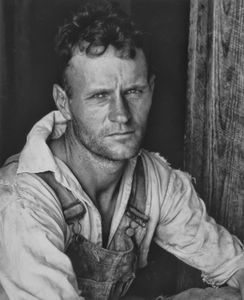 """Floyd Burroughs, sharecropper, Hale County, Alabama. Photo from """"Let Us Now Praise Famous Men."""" © Walker Evans. Published by Houghton Mifflin Company."""