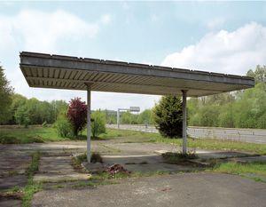 """Station #5, from """"Twentysix Abandoned Gasoline Stations"""" © Eric Tabuchi"""