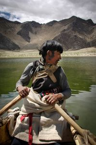 Junpa is the only fishing village in Tibet. They fish using yak-skin coracle boats, called dhawas. They're often carried long distances on the fishermans' backs © Forest McMullin