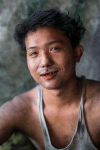 Charcoal merchant. Yangon, Myanmar