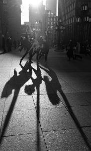 Shadow of dancers