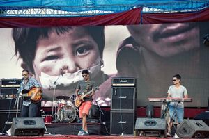 Fundraising concert in Kathmandu by local bands