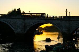 Sunset over Richmond Bridge