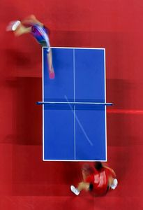2nd prize Sports Action Stories © Donald Miralle, Jr, USA, Getty Images,Olympic Games portfolio. Hao Wang of China and Seung Min Ryu of Korea compete for the gold medal in men's singles table tennis.