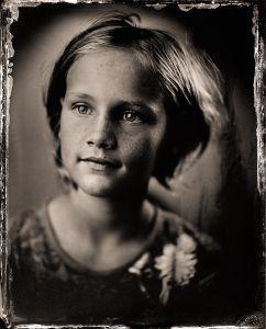 M (girl) as a tintype