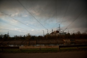 the unfinished reactors number 5 and 6 where there is the workshop to recycle radioactive metals, Chernobyl Exclusion Zone