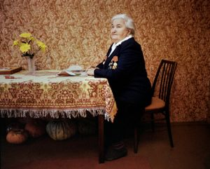 """Zinaida Nikolaieva Famienska, Maladechna, was in the partisan force. From the series, """"I Reminisce and Cry for Life (Women veterans of II World War in Belarus)"""" © Agnieszka Rayss. Finalist, LensCulture Exposure Awards 2013."""