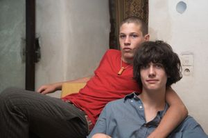 Adrien and Nicolas Motherly Affection, from Teen Tribe © Martine Fougeron