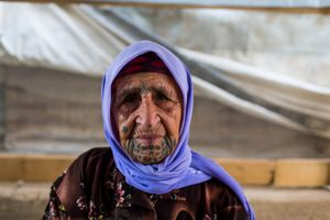 Lamia, 71 years old, comes from Aleppo.
