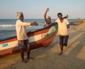 Three Fishermen, Kovalam, Tamil Nadu