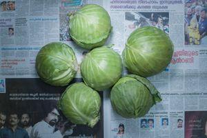Cabbages. Noida, India. December 2011. 32 Indian Rupee (0.60 usd, 0.46 euros)