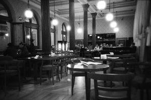 Rudolfinum café. Prague.
