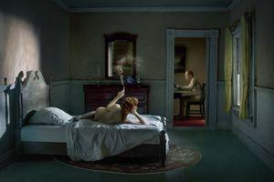 "Pink Bedroom (Odalisque). From the series ""Hopper Meditations"" © Richard Tuschman"