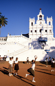School Girls, Our Lady Of The Immaculate Conception Church, Panjim, Goa, India, 1990