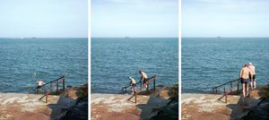 "At the Forty Foot Hole, from the series ""Jumping for Joyce © Michael Marten"