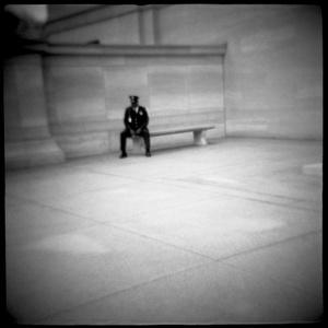 National Gallery Guard on a Break, Washington, D.C.
