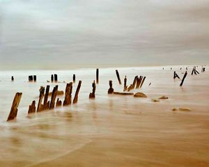 "Gold Beach, Normandy. From ""Forensic Traces of War"" © Simon Norfolk"