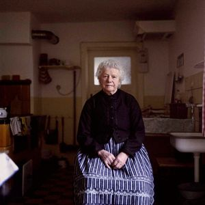 Mrs. Munig, Portestant Sorb near Hoyerswerda, Lusatia, 2012. From the series: The last women in their traditional peasant garbs