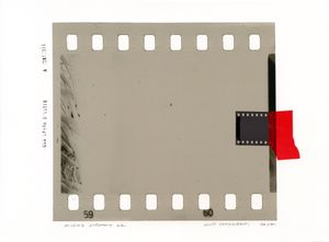Missing Memory 22. Giclée print with collage of film negative. 30 x 40 cm