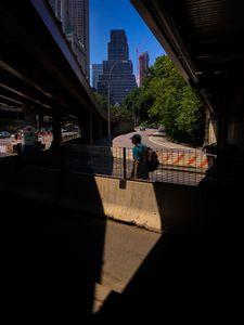 shadows under the brooklyn bridge