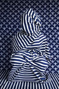 Batik Blue and White, from the series People of Pattern by Alia Ali
