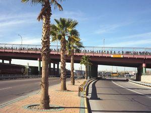 Pedestrian Crossing from Ciudad Juarez to El Paso, Sunday Morning