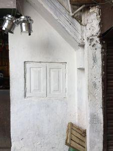 White windows on a white wall