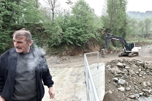 Ender Dursun, a former truck driver,  is saddened by the construction works aiming at diverting the river Sidere that goes through Konaklı, his village.