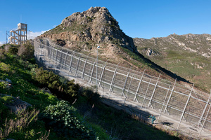 anti-immigration fence in Ceuta, Spain