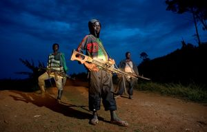"""Child Soldiers. From the series """"KIDs"""" © Zoran Marinovic. 3rd place, Single Image Category, 2013 LensCulture Exposure Awards"""