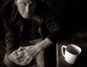 Man in a Dublin Cafe