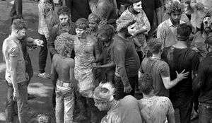 Indian Holy Color Festival In street
