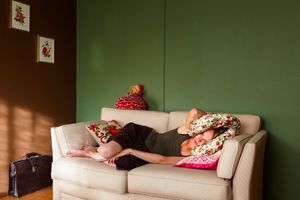 Woman and Pillows (2013)