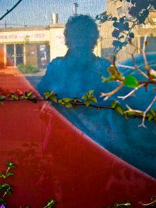 Self-portrait in Bougainvilla
