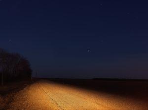 Road at Night, Money, Mississippi, 2018