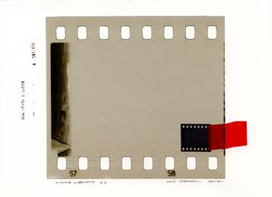 Missing Memory 21. Giclée print with collage of film negative. 30 x 40 cm