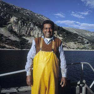 Prem Singh, sea bream fishing,Saronikos, Greece.