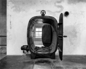 Hot air desinfection chamber for the prisoners uniforms in the so-called Sauna Building - KL Auschwitz II - Birkenau