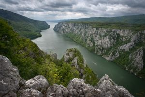 A gorge of the Danube between the South Carpathians and the Serbian Ore Mountains, at the border of Serbia and Romania | Djerdap National Park (Serbia)