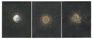 Eclipse, 2011 3(10x8) Unique gunpowder generated gelatin silver print.