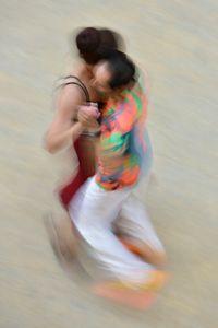 Mall of Berlin, Potsdamer Platz, tango dancers, august 2018, Nr. 1