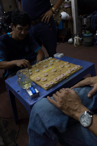 Chinese Chess in back alley in Ho Chi Minh City