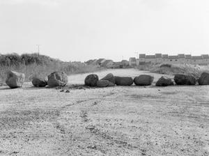 road block at settlement