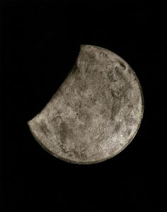 broken moon (broken glass of an old wall clock with 4years' of dust)