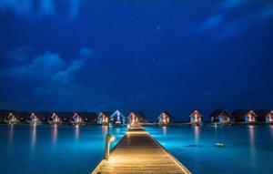 Blue sky and sea, The Maldives, 2016.
