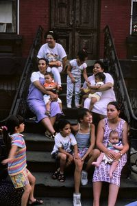 Mothers on the stoop, 1988.