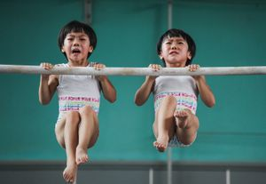 """From the Series """" The Twins' Gymnastic Dream"""""""