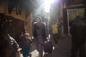 Fez, March 2015. A young mother walking trough Fez's medina.