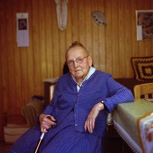 Christine Kaiser, Protestant Marburger Land, 2014. From the series: The last women in their traditional peasant garbs